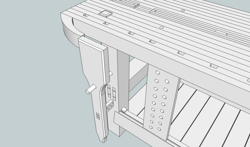 Roubo Workbench Plans Sketchup Quiet60kit
