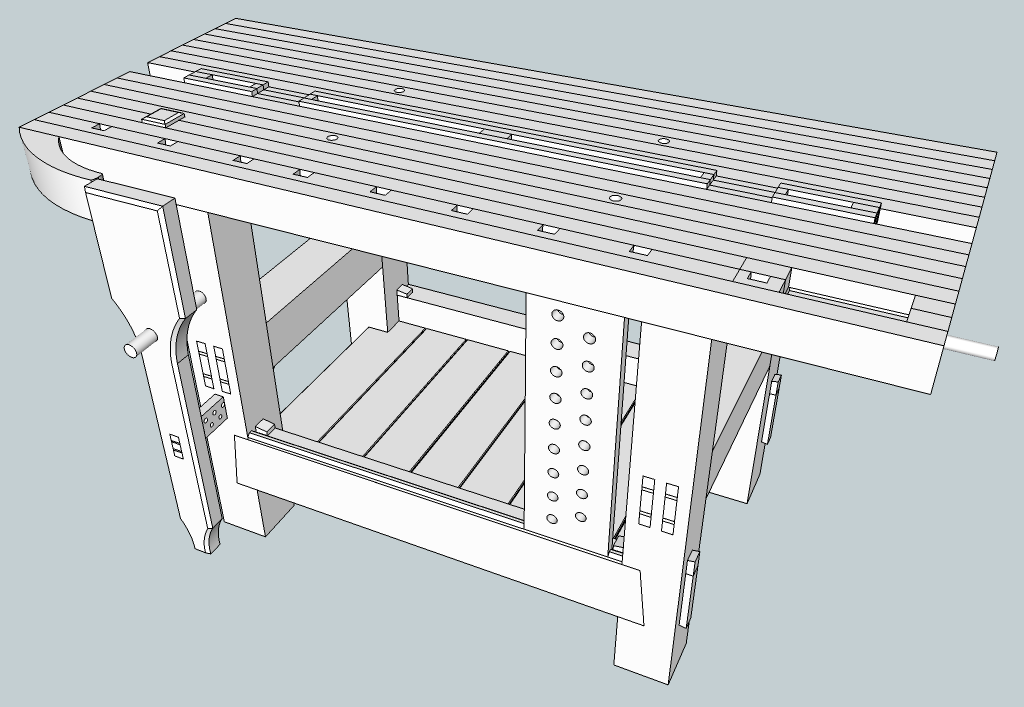 Diy Split Top Roubo Bench Plans Pdf Download Build Garden