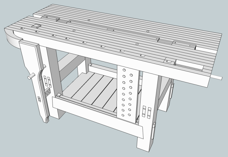 Preview of roubo style roubo workbench plans free work bench plans.