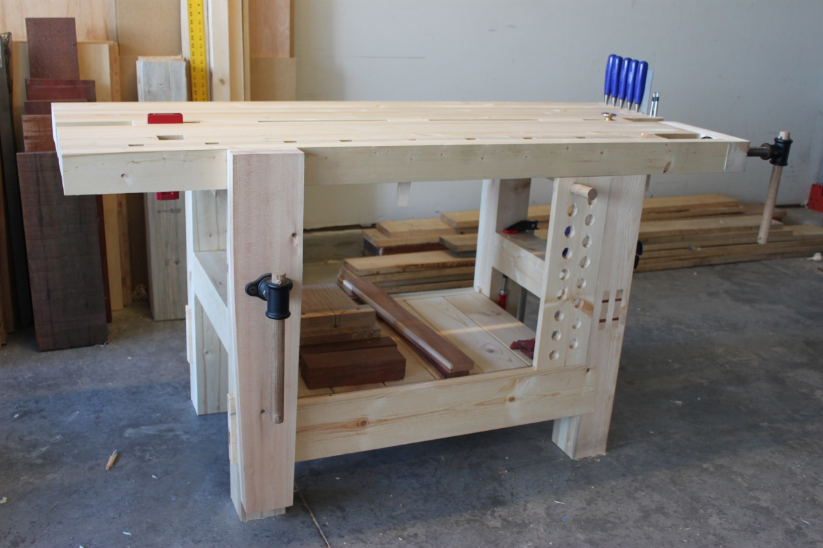 Split Top Hybrid Roubo Workbench The Fameless Woodworker