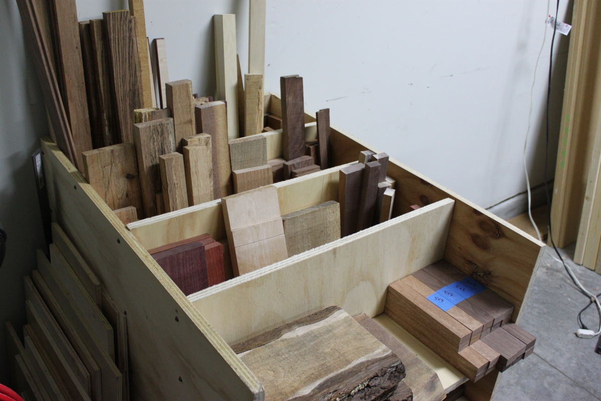 Cutoff Bin/Wood Storage