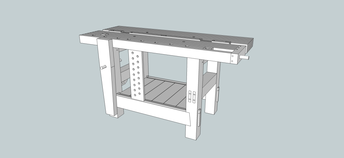 The Split-Top Roubo Update + SketchUp File